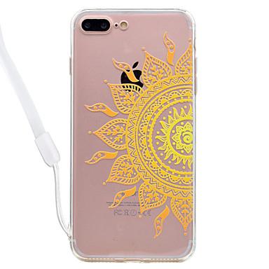 Hülle Für Apple Transparent Muster Rückseitenabdeckung Mandala Hart Acryl für iPhone 7 plus iPhone 7 iPhone 6s Plus iPhone 6 Plus iPhone