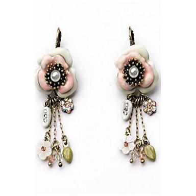 Dames Druppel oorbellen Bergkristal Gepersonaliseerde Modieus leuke Style Legering Bloemvorm Bladvorm Sieraden Voor Anders >> Afspraakje