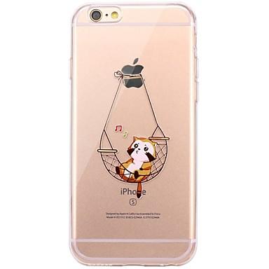 Voor iPhone X iPhone 8 Hoesje cover Transparant Patroon Achterkantje hoesje Kat Zacht TPU voor Apple iPhone X iPhone 7s Plus iPhone 8
