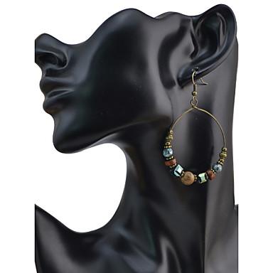 Dames Druppel oorbellen Basisontwerp Cirkelvormig ontwerp Uniek ontwerp Hangende stijl Cirkel Vriendschap Punk-stijl USA Aanbiddelijk