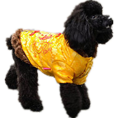 Hund Pullover Hundekleidung Lässig/Alltäglich Buchstabe & Nummer Gelb Rot Blau