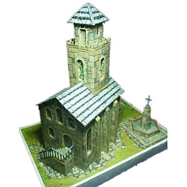 Puzzle 3D Modelul de hârtie Μοντέλα και κιτ δόμησης Lucru Manual Din Hârtie Jucarii Clădire celebru Biserică Arhitectură 3D Reparații
