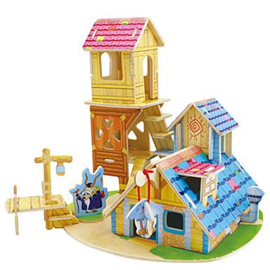 Robotime 3D - Puzzle Holzmodelle Modellbausätze Haus Heimwerken Kartonpapier Klassisch Kinder Unisex Geschenk