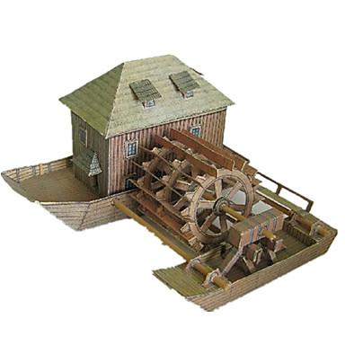 Jucării pentru mașini Puzzle 3D Modelul de hârtie Lucru Manual Din Hârtie Clădire celebru Arhitectură 3D Simulare Reparații Clasic Unisex