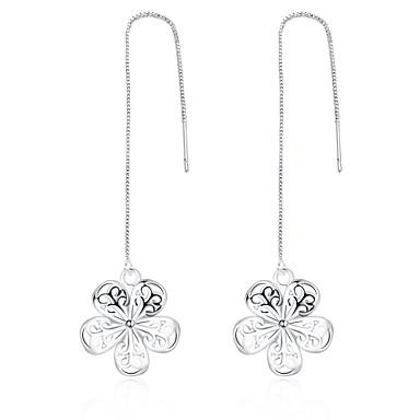 Pentru femei Bijuterii Cercei Picătură - Teak, Argilă Floare Argintiu / Boem / Hipoalergenic / Lux / Hipoalergenic
