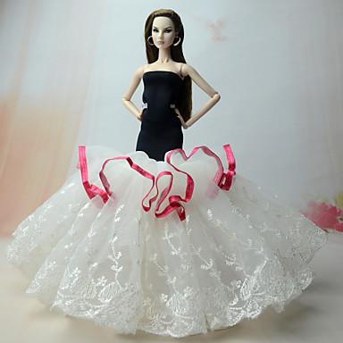 Kleider Kleid Für Barbie-Puppe Organza Kleid Für Mädchen Puppe Spielzeug