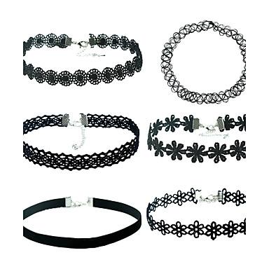Pentru femei Coliere cu Pandativ Lănțișoare negru cravată Sclipici Material Din Fâș MetalPistol Aliaj Geometric Shape neregulat