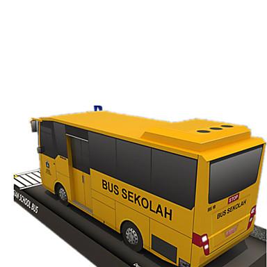 Spielzeug-Autos 3D - Puzzle Papiermodel Papiermodelle Quadratisch Bus 3D Simulation Heimwerken Hartkartonpapier Klassisch Unisex Geschenk