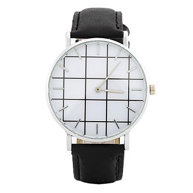 Dames Modieus horloge Polshorloge Vrijetijdshorloge Chinees Kwarts / PU Band Snoep Informeel Elegant Zwart Wit Roze