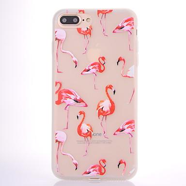 Hülle Für Apple Mattiert Durchscheinend Muster Rückseitenabdeckung Flamingo Weich TPU für iPhone 7 plus iPhone 7 iPhone 6s Plus iPhone 6