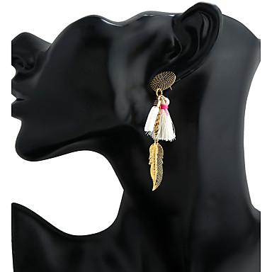 Pentru femei Închizătoare Cercel  / Cercei Picătură / Cercei Rotunzi - Stil Atârnat, Ciucure Alb / Negru / Rosu Pentru Afaceri / Scenă / Ieșire / Pandative
