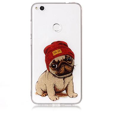 Hoesje voor huawei p8 lite (2017) p10 lite telefoon hoesje tpu materiaal imd proces hond patroon hd flash poeder telefoon hoesje p9 lite