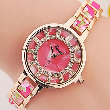 Dames Armbandhorloge Digitaal Metaal Band Zwart Wit Blauw Rood Bruin Roze Paars Geel roze