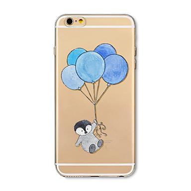 غطاء من أجل Apple iPhone X iPhone 8 Plus شفاف نموذج غطاء خلفي Balloon كارتون حيوان ناعم TPU إلى iPhone X iPhone 8 Plus iPhone 8 iPhone 7