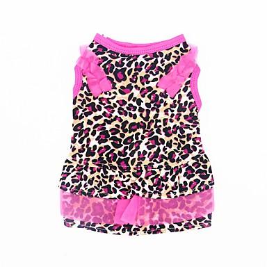 Katze Hund Smoking Kleider Hundekleidung Leopard Leopard Chiffon Kostüm Für Haustiere Sommer Damen Party Lässig / Alltäglich Hochzeit