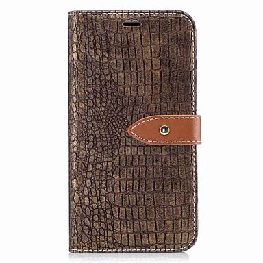 Für lg k10 (2017) k8 (2017) Fallabdeckung Kartenhalter Brieftasche magnetisches Krokodil Muster PU Ledertasche für lg k7 k8