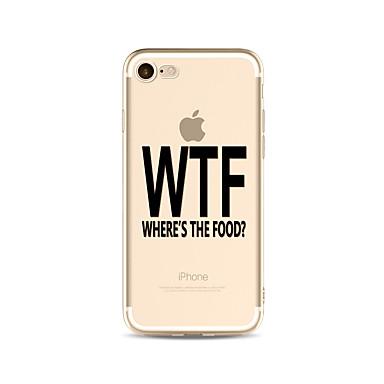 Hülle Für Apple iPhone X iPhone 8 Plus Transparent Muster Rückseite Wort / Satz Weich TPU für iPhone X iPhone 8 Plus iPhone 8 iPhone 7