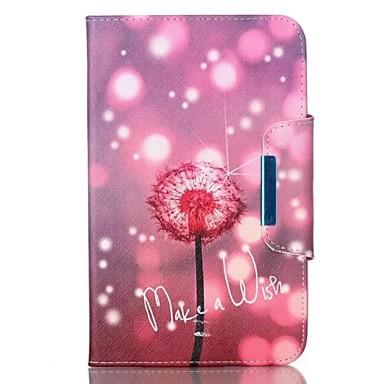 Für Samsung Galaxy Tab ein 9,7 Tab e 9.6 Fall Deckel Löwenzahn Muster PU Haut Material samsung flache Schutzhülle Tab ein 8.0 Tab 3 Lite