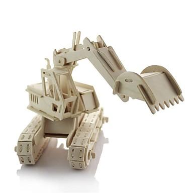 Spielzeug-Autos 3D - Puzzle Holzpuzzle Holzmodelle Aushebemaschinen Heimwerken Hölzern Holz Klassisch Baustellenfahrzeuge Kinder Geschenk