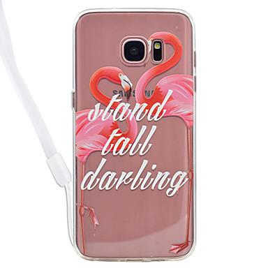 Hülle Für Samsung Galaxy S8 Plus S8 Transparent Muster Rückseite Flamingo Hart Acryl für S8 Plus S8 S7 edge S7 S6 edge S6 S5
