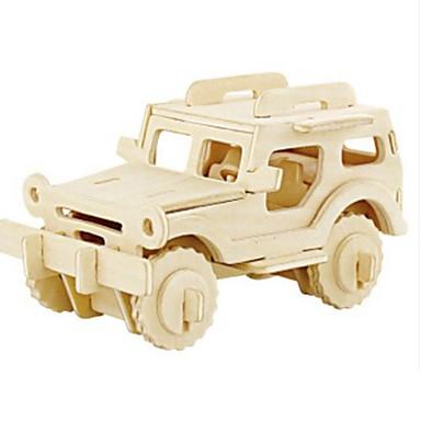 Robotime قطع تركيب3D تركيب النماذج الخشبية سيارة أسد اصنع بنفسك خشب الخشب الطبيعي للأطفال للجنسين هدية