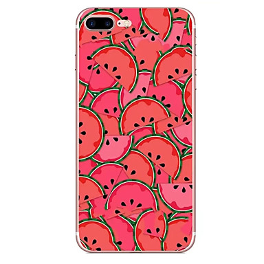 Hoesje voor apple iphone 7 7 plus hoesje hoesje watermeloen patroon hd geschilderd tpu materiaal zacht geval telefoon hoesje voor iphone