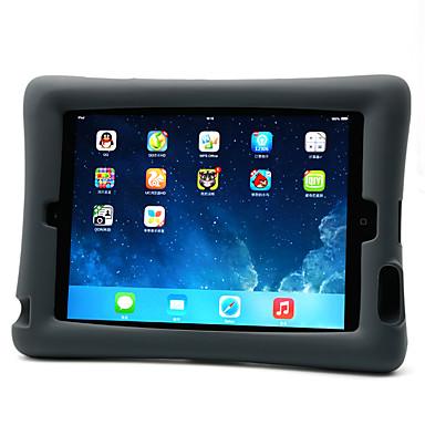 Voor apple ipad 4/3/2 case cover schokbestendig met standaard achterkant behuizing solid color zachte silicone