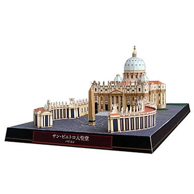 قطع تركيب3D نموذج الورق مجموعات البناء مربع بناء مشهور Church معمارية اصنع بنفسك ورق صلب كلاسيكي للجنسين هدية