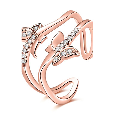 Damen Ring Kubikzirkonia Basis Kreisförmiges Einzigartiges Design Tattoo Stil Natur Geometrisch Kreis Freundschaft Modisch Film-Schmuck