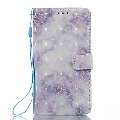Hülle Für LG K8 LG LG K7 Kreditkartenfächer Geldbeutel mit Halterung Flipbare Hülle Magnetisch Muster Ganzkörper-Gehäuse Marmor Hart