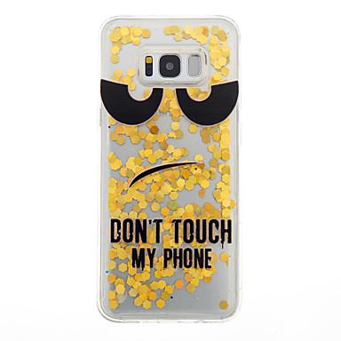 Hülle Für Samsung Galaxy S8 Plus S8 Mit Flüssigkeit befüllt Rückseitenabdeckung Cartoon Design Weich TPU für S8 S8 Plus S7 edge S7 S6
