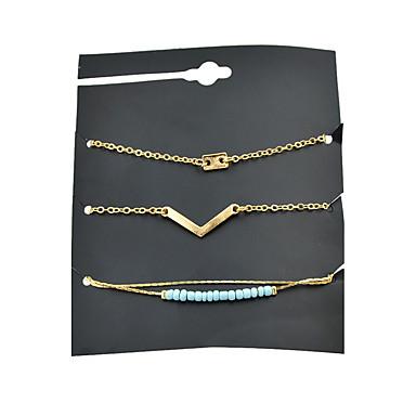 Pentru femei Brățări cu Lanț & Legături - Modă Rotund Auriu Brățări Pentru Party / Seara