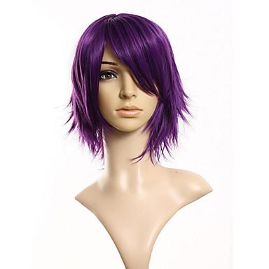 Păr Sintetic perucile Drept Perucă Cosplay Scurt Violet