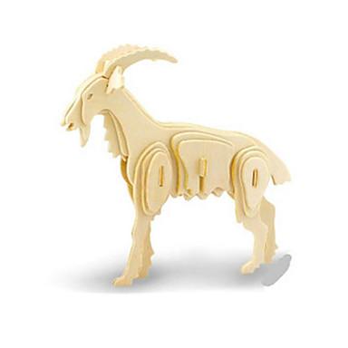 قطع تركيب3D تركيب النماذج الخشبية ديناصور طيارة الخراف حيوان 3D اصنع بنفسك خشبي خشب كلاسيكي للأطفال للجنسين هدية