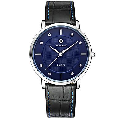 WWOOR Dames Unieke creatieve horloge Polshorloge Modieus horloge Sporthorloge Vrijetijdshorloge Kwarts Hot Sale Echt leer Band Luxe
