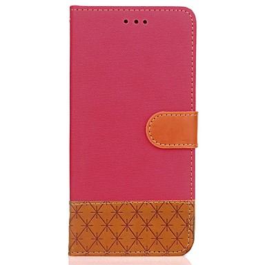 Hoesje voor xiaomi redmi 4 4x hoesje hoesje kaarthouder portemonnee met tribune flip reliëf full body hoesje solid color hard pu leer voor