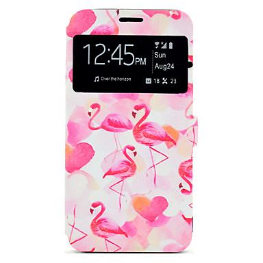Hülle Für Samsung Galaxy J7 (2016) J5 (2016) Kreditkartenfächer mit Halterung Muster Handyhülle für das ganze Handy Flamingo Hart