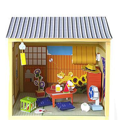 3D - Puzzle Papiermodelle Quadratisch Berühmte Gebäude Haus Architektur 3D Heimwerken Hartkartonpapier Unisex Geschenk