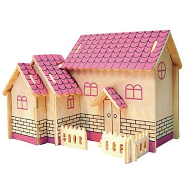 قطع تركيب3D تركيب معدني النماذج الخشبية مجموعات البناء معمارية اصنع بنفسك الخشب الطبيعي كلاسيكي للجنسين هدية