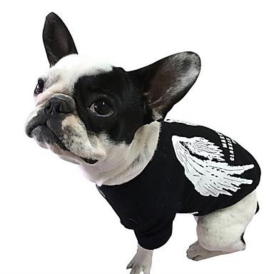 Câine Tricou Îmbrăcăminte Câini Casul/Zilnic Literă & Număr Negru Gri