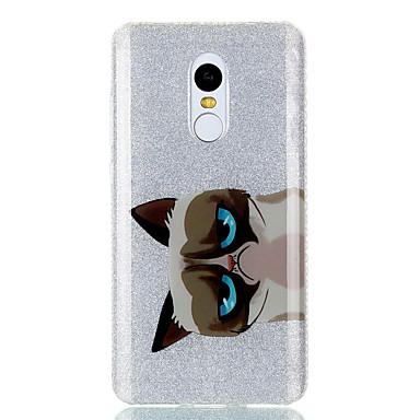 Pentru Carcase Huse IMD Carcasă Spate Maska Pisica Animal Luciu Strălucire Greu TPU pentru XiaomiXiaomi Redmi Note 4X Xiaomi Redmi 4a