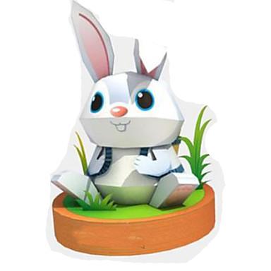 3D-puzzels Bouwplaat Speeltjes Vierkant Rabbit Dieren DHZ Hard Kaart Paper Niet gespecificeerd Stuks