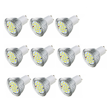 3.5W 360-400 lm GU10 LED-spotlampen MR16 16 leds SMD 5630 Warm wit Wit AC 220-240V
