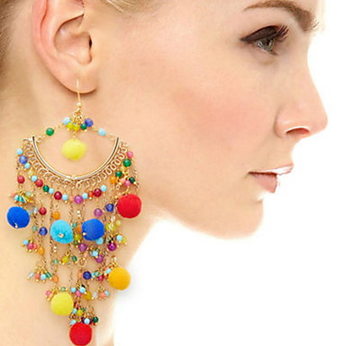 Damen Tropfen-Ohrringe Basis Einzigartiges Design Geometrisch Freundschaft Böhmen-Art Britisch Punkstil Chrismas Klassisch bezaubernd