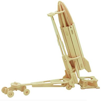 قطع تركيب3D تركيب النماذج الخشبية عربة 3D اصنع بنفسك خشب الخشب الطبيعي للأطفال للجنسين هدية