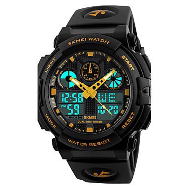 Χαμηλού Κόστους Ανδρικά ρολόγια-SKMEI Ανδρικά Ρολόι Καρπού Ψηφιακό ρολόι Ρολόι κυνηγιού Ιαπωνικά Χαλαζίας Συνθετικό δέρμα με επένδυση Μαύρο 50 m Ανθεκτικό στο Νερό Συναγερμός Ημερολόγιο Αναλογικό-Ψηφιακό Μοντέρνα - / Δύο χρόνια