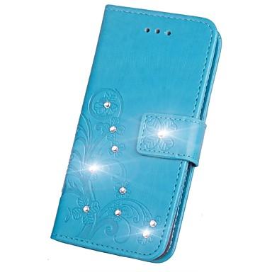 Недорогие Чехлы и кейсы для Galaxy S3 Mini-Кейс для Назначение SSamsung Galaxy S9 / S9 Plus / S8 Plus Стразы / Флип / Рельефный Чехол Мандала / Бабочка Твердый Кожа PU