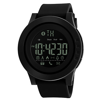 SKMEI Heren Sporthorloge Slim horloge Digitaal horloge Digitaal PU Band Zwart
