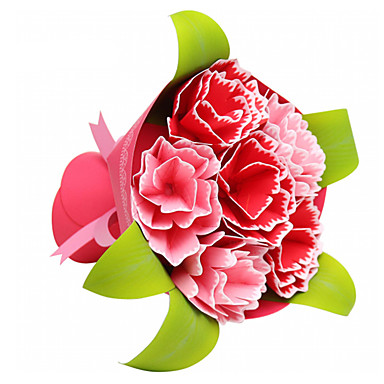 قطع تركيب3D نموذج الورق مجموعات البناء أشغال الورق ألعاب مربع الورود 3D اصنع بنفسك محاكاة للجنسين قطع