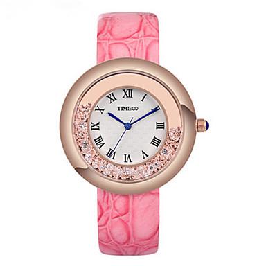 Dames Modieus horloge Kwarts Leer Band Zwart Wit Rood Roze